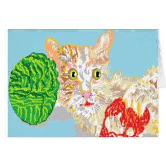 メッセージカードのブランク中の/Kitten カード