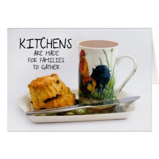 メッセージカードを言う台所 カード