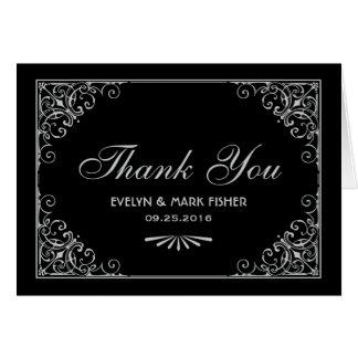 メッセージカード|のアール・デコのスタイルありがとう ノートカード