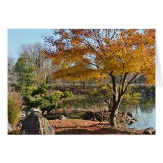 メッセージカード-ブランク、日本のな庭の秋 カード