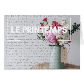 メッセージカード-春-フランスのな国 カード