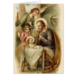 メッセージカード(聖なる書物、経典): セントジョーゼフの出生 カード