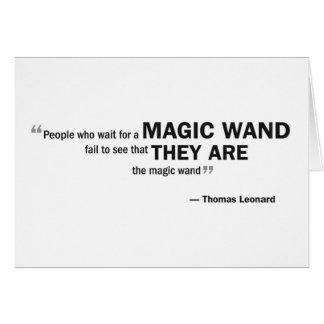 メッセージカード- 「魔法を… 「待っている人々 カード