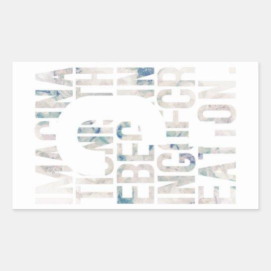 メッセージ性/アート性を重視される方に seal gete 長方形シール