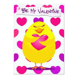 メッセージ、招待との愛の甘いひよこ カード