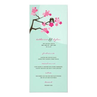 メニューを結婚している桜の花愛鳥 カード
