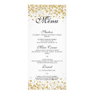 メニューを結婚するエレガントな金ゴールド カスタムラックカード