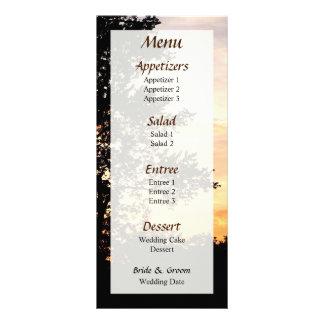 メニューを結婚する木のシルエット… ラックカード
