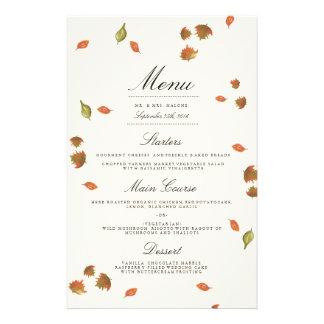 メニューを結婚する秋の木 チラシ