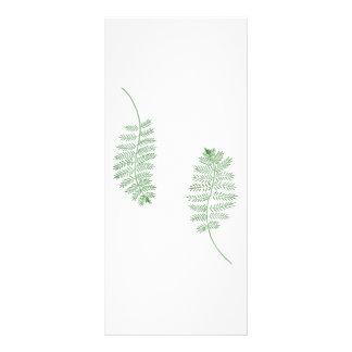 メニューカードを結婚する緑のシダ ラックカード