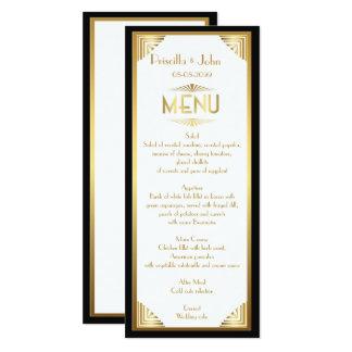 メニュー結婚式、メニュー会合、素晴らしいGatsby、白、金ゴールド カード