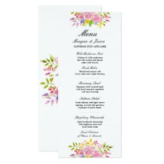 メニュー結婚披露宴のピンクのリースによってはカードが開花します カード