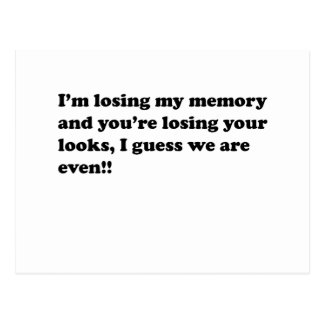 メモリ損失 ポストカード