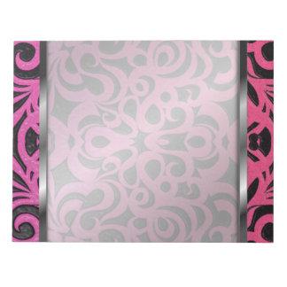 メモ帳の花柄の抽象芸術の背景 ノートパッド