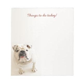メモ帳を今日する忠節で白いブルドッグの事 ノートパッド