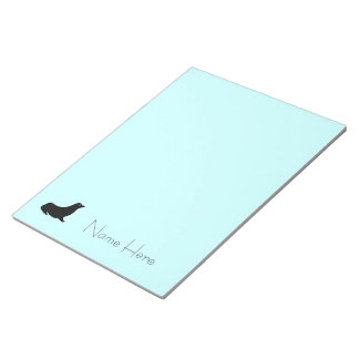 メモ帳-青の名前のシール ノートパッド