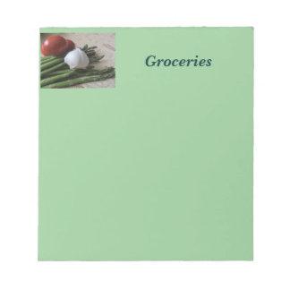 メモ帳--食料雑貨のアスパラガス ノートパッド