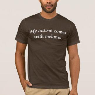 メラニン + 自閉症 Tシャツ