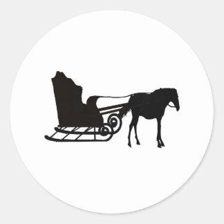 メラニーSnyder著馬そしてそり ラウンドシール