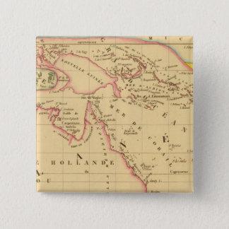 メラネシア 5.1CM 正方形バッジ