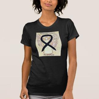 メラノーマの蟹座の認識度のリボンの天使のワイシャツ Tシャツ