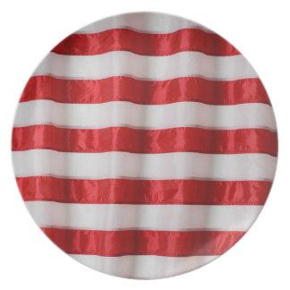 メラミン版の米国旗は縞で飾ります プレート