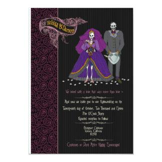 メリッサおよびdamonの結婚式招待状 12.7 x 17.8 インビテーションカード