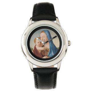 メリーおよびベビーイエス・キリストのポートレート 腕時計