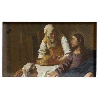 メリーおよびマーサの家のイエス・キリスト テーブルカードホルダー