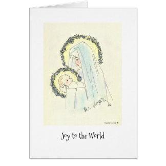 メリーおよび子供 カード