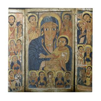 メリーおよび彼女の息子が付いているトリプティクの中心パネル タイル
