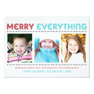 メリーすべての青および赤い写真カード カード