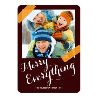 メリーすべてクリスマスのWashiテープ写真カード カード