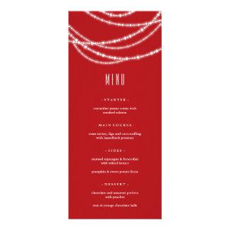 メリーで及び明るい輝きの休日のパーティメニューカード ラックカード