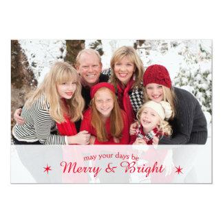 メリーで及び明るくカスタムな家族写真のクリスマスカード カード
