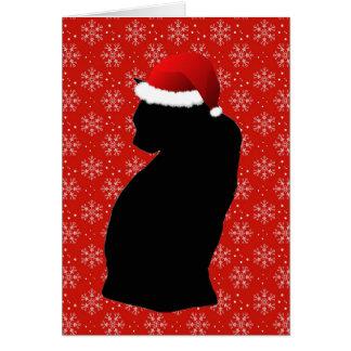 メリーで小さいクリスマス猫カード カード