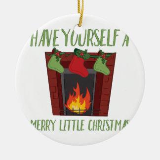 メリーで小さいクリスマス セラミックオーナメント
