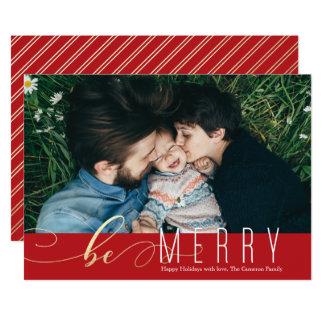 メリーで模造のなホイルのクリスマスの休日カードがあって下さい 12.7 X 17.8 インビテーションカード