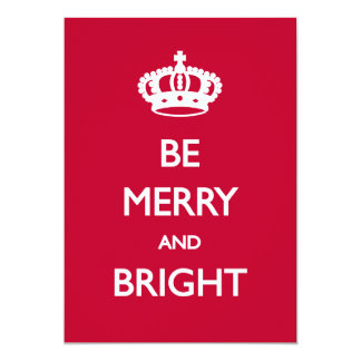 メリーで、明るいクリスマスカードがあって下さい 12.7 X 17.8 インビテーションカード