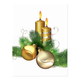 メリーで、明るい蝋燭 ポストカード