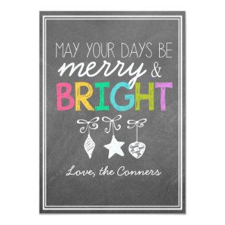 メリーで、明るい黒板の挨拶状 カード