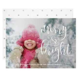 メリーで、明るく白い上敷の休日の写真 カード