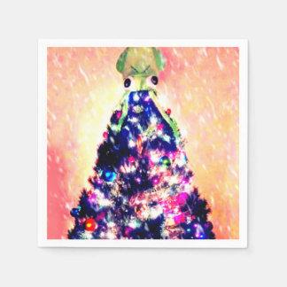 メリーなイカmasイカのクリスマスツリーの紙ナプキン スタンダードカクテルナプキン