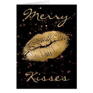 メリーなキスのクリスマス カード