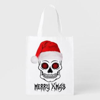 メリーなクリスマススカル エコバッグ
