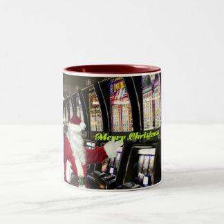 メリーなサンタスロットプレーヤーのクリスマス2の調子のマグ ツートーンマグカップ