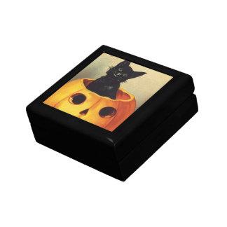 メリーなハロウィンのカボチャのヴィンテージの黒猫 ギフトボックス