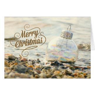 メリーなビーチのクリスマスカード カード