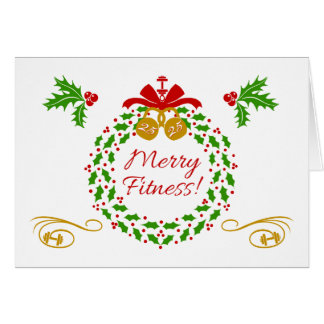 メリーなフィットネスのリースのブランクの休日カード カード