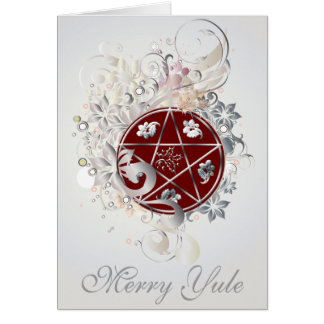 メリーなユール(キリスト降誕祭)の五芒星のカメオカード- 3B カード